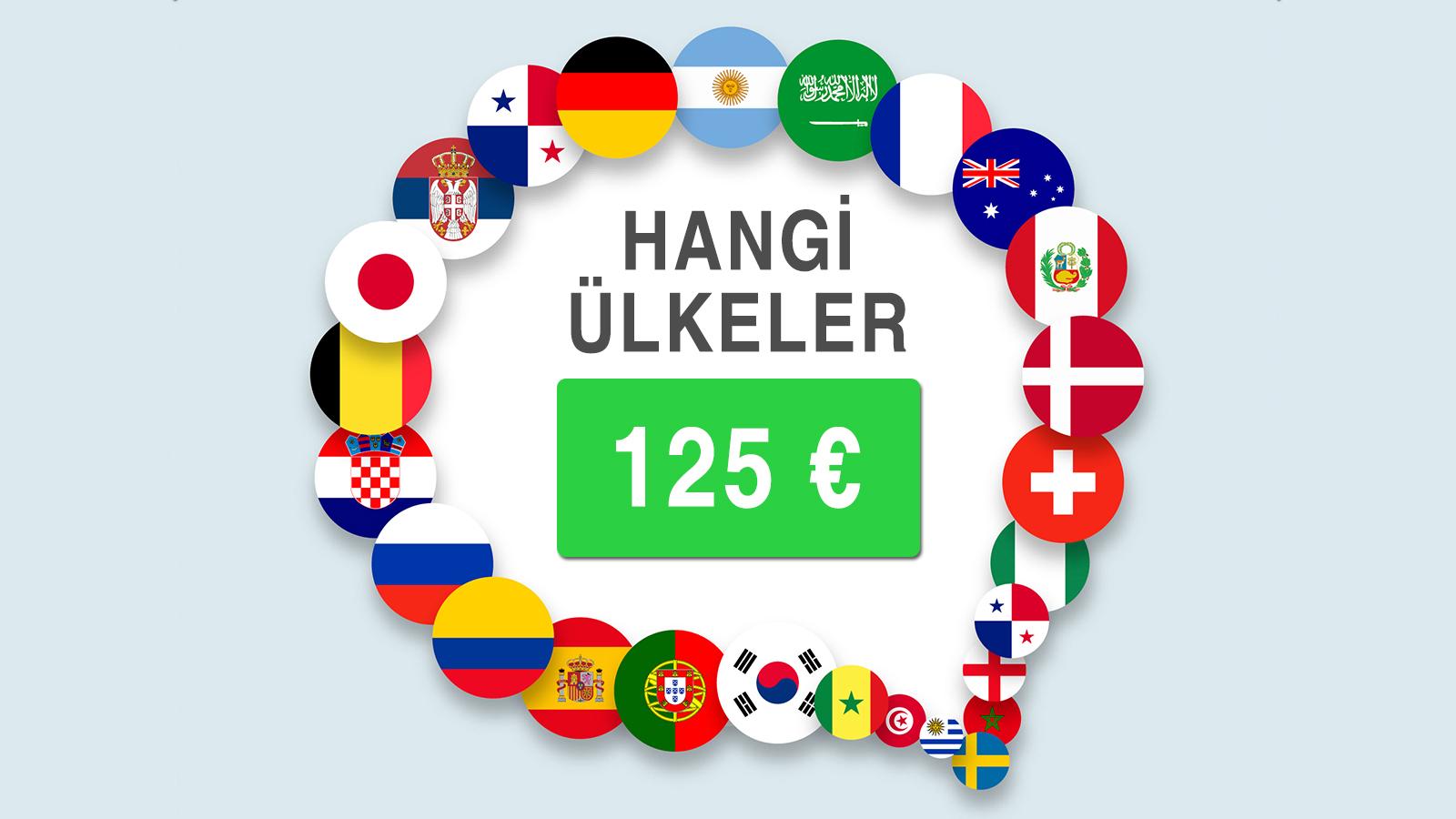 Hangi Ülkeler 125 € ?